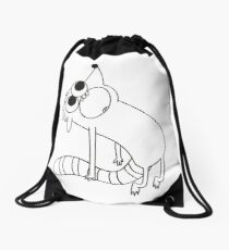 Ghost of Rigby Drawstring Bag