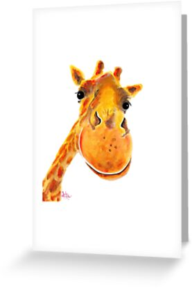 GIRAFFE ZOO ANIMAL PRINTS 'BeNNY' GIRAFFE GIFTS VON SHIRLEY MACARTHUR von Shirley MacArthur