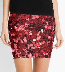 Red sequin Mini Skirt