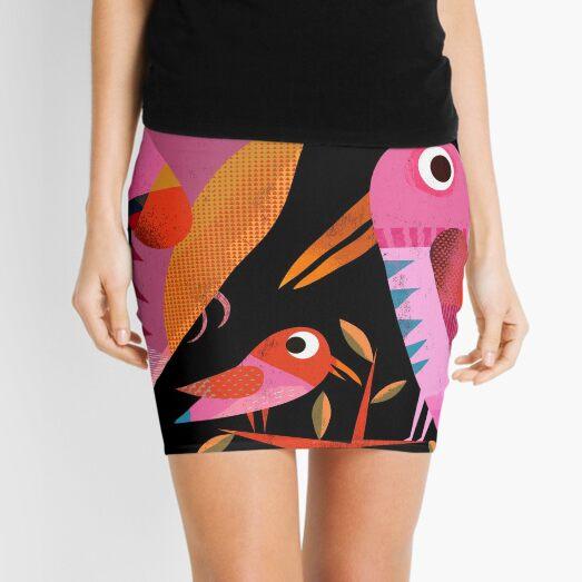 Three Birds at Night Mini Skirt