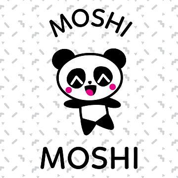 Funny Cute Teen Trends - Panda Moshi Moshi by mudraprint