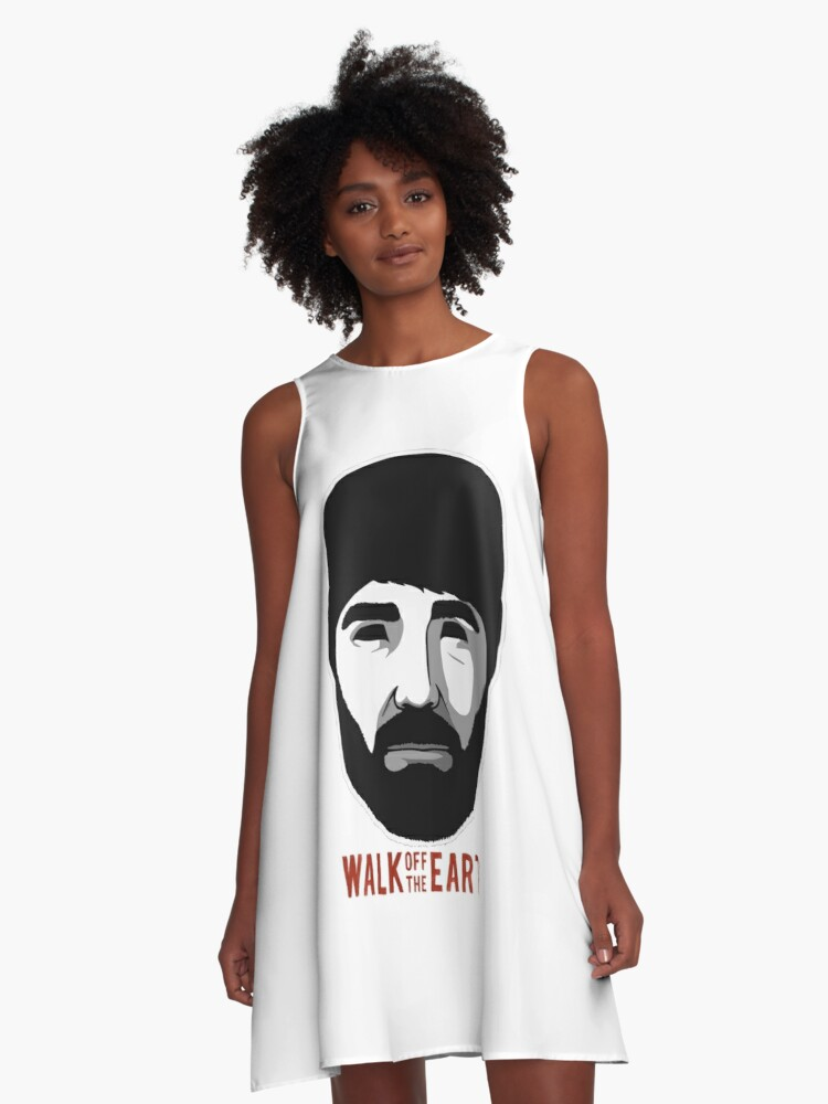 'Walk Off The Earth - Hipster Beard Guy' A-Line Dress by Anna Taylor