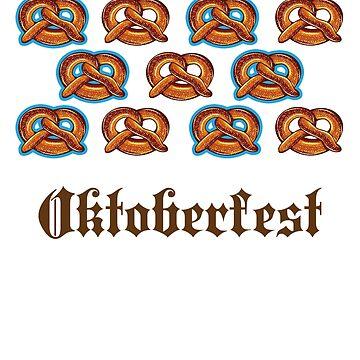 Oktoberfest Bretzel T-Shirt by Dubbra