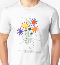 Pablo Picasso Bouquet Of Peace 1958 (Flowers Bouquet With Hands), T Shirt, Artwork Unisex T-Shirt