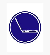 LAPTOP ICON PARKING ROAD SIGN Photographic Print