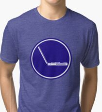 LAPTOP ICON PARKING ROAD SIGN Tri-blend T-Shirt