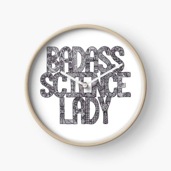 Badass Science Lady Clock