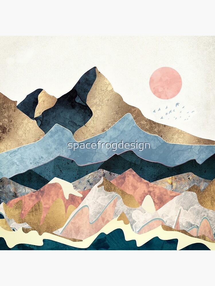 Golden Peaks by spacefrogdesign