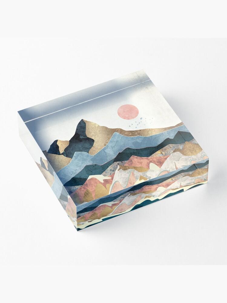 Alternate view of Golden Peaks Acrylic Block