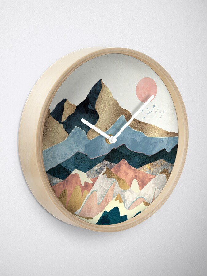 Alternate view of Golden Peaks Clock