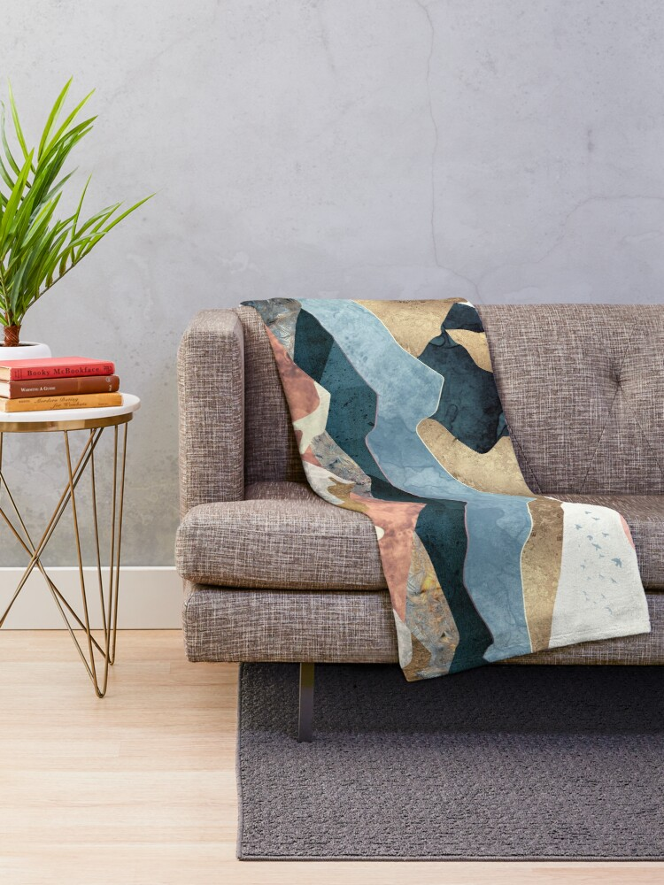 Alternate view of Golden Peaks Throw Blanket