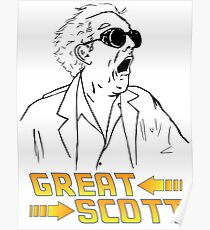BTTF Great Scott Poster