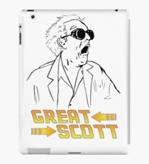 BTTF Great Scott iPad Case/Skin