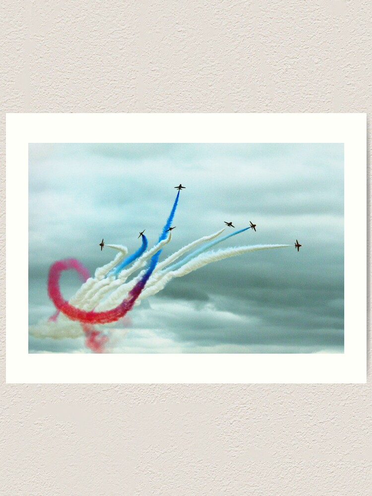 Alternate view of Red Arrows Art Print