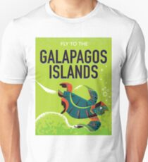Galapagos Islands vintage travel poster art. Unisex T-Shirt