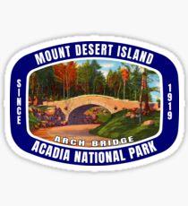 Mount Desert Island Acadia National Park Arch Bridge Maine Sticker