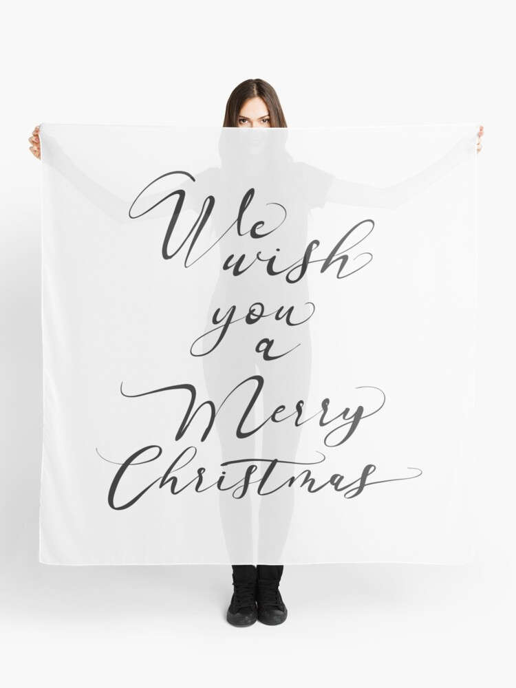 Merry Christmas Lettering.We Wish You A Merry Christmas Lettering Scarf