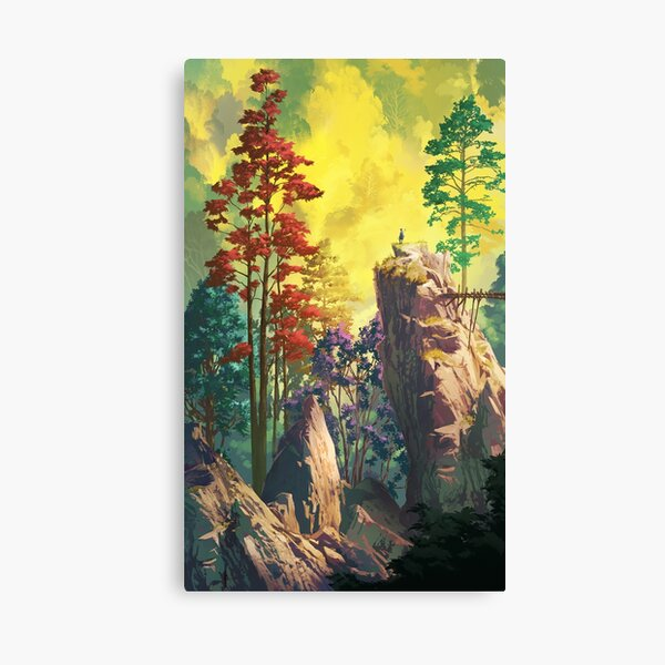 Vertical contemplation Canvas Print
