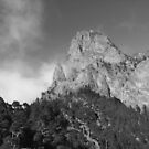 Mountain wrapped in fog - black and white | Canary Islands by LiriMor