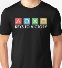 Keys to victory Gamer Console Gaming Controller Unisex T-Shirt