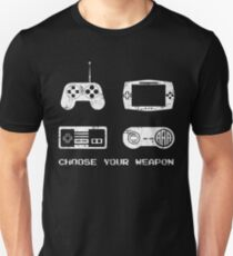 Choose your weapon Console Gamer Console Game Unisex T-Shirt
