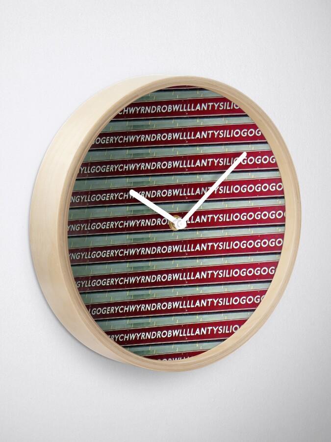 Alternate view of Llanfairpwllgwyngyllgogerychwyrndrobwllllantysiliogogogoch  Clock