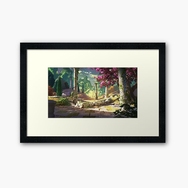 Remain of the ancient world Framed Art Print
