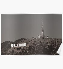 The famous Hollywood Sign Poster