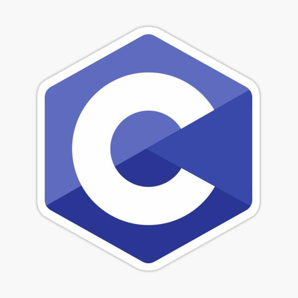 C Logo Sticker
