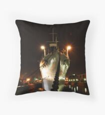 HMS Caroline Throw Pillow