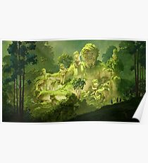 Moss and statues Poster