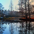 A bridge, the river and reflections | waterscape photography by Patrick Jobst