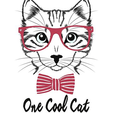 One Cool Cat, kitten with glasses and bow tie, t-shirt by byzmo