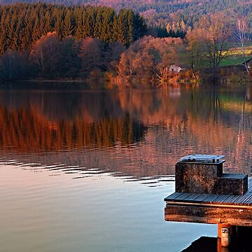 Romantic evening at the lake | waterscape photography by patrickjobst