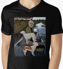Goodfellas Painting Dogs Men's V-Neck T-Shirt