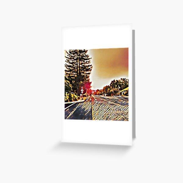 Arty sunrise Greeting Card