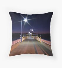 Twilight at Redcliffe Pier Throw Pillow