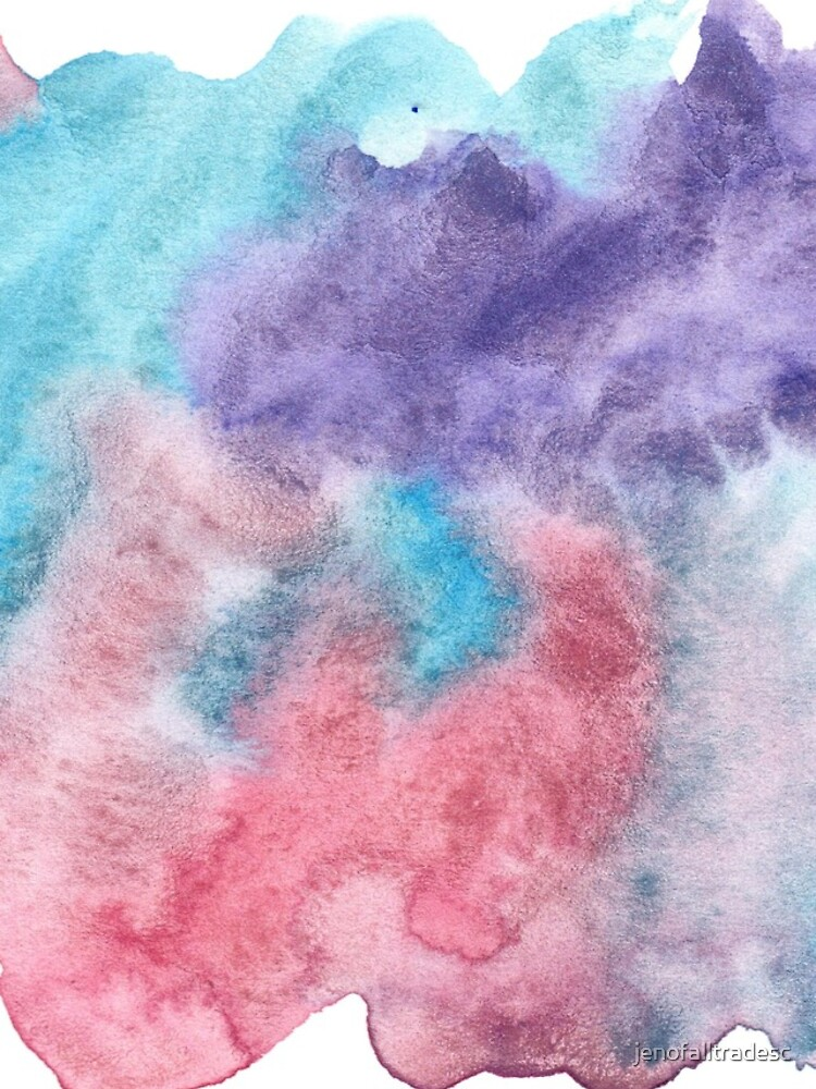 Original Watercolor Painting Wet on Wet color bleed by jenofalltradesc