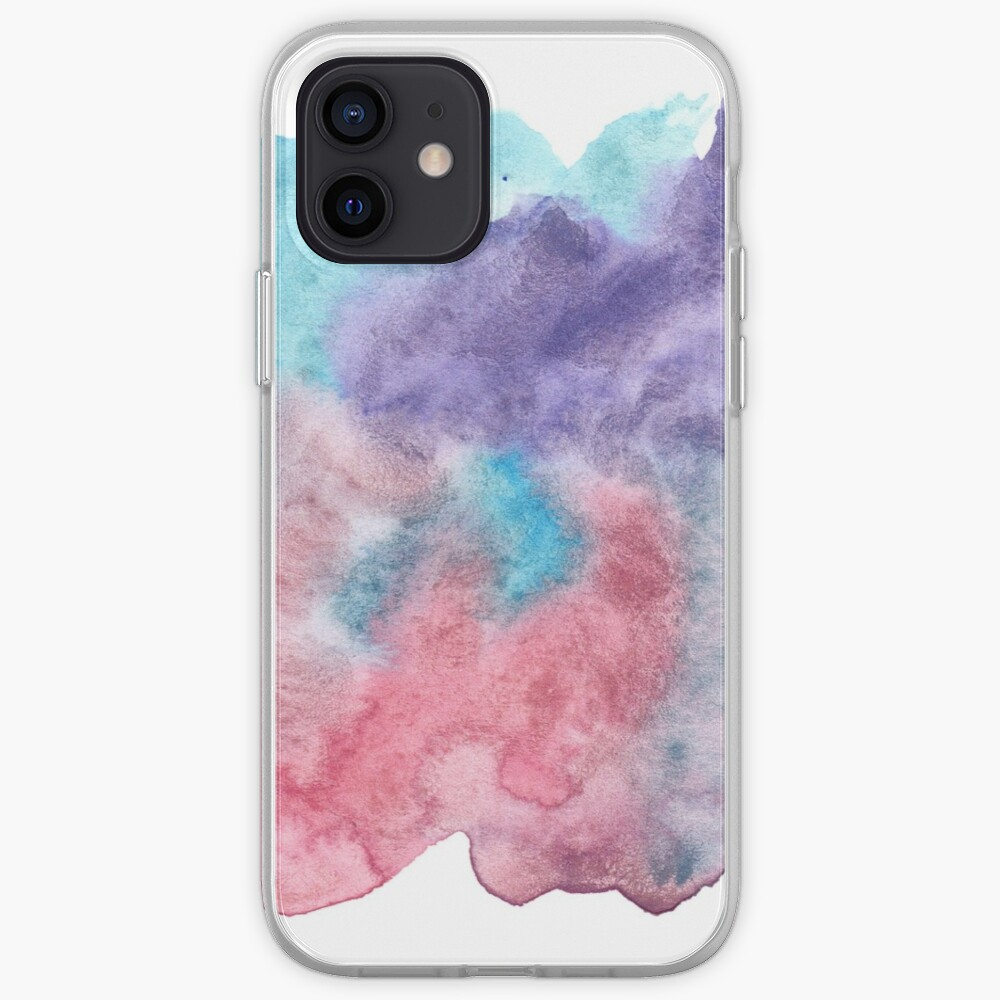 Original Watercolor Painting Wet on Wet color bleed iPhone Case & Cover
