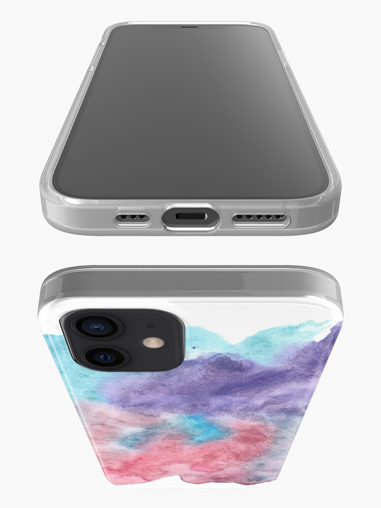 Alternate view of Original Watercolor Painting Wet on Wet color bleed iPhone Case & Cover