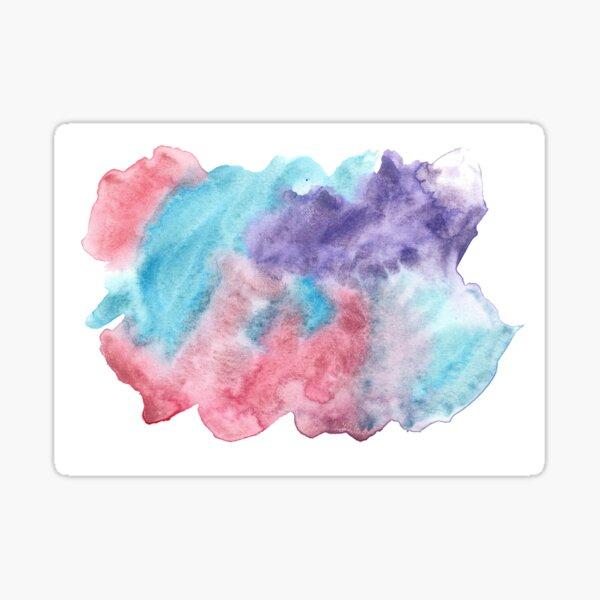Original Watercolor Painting Wet on Wet color bleed Sticker