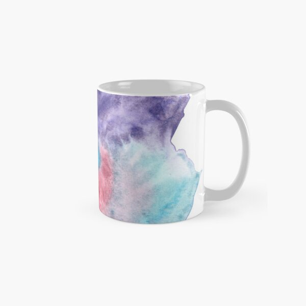 Original Watercolor Painting Wet on Wet color bleed Classic Mug