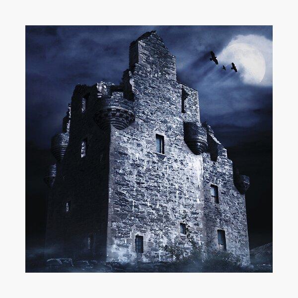 Moonlit Castle Photographic Print