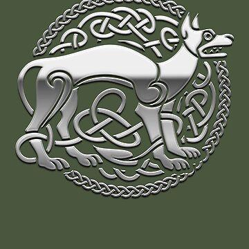 Celtic design dog and ornament by Spassprediger