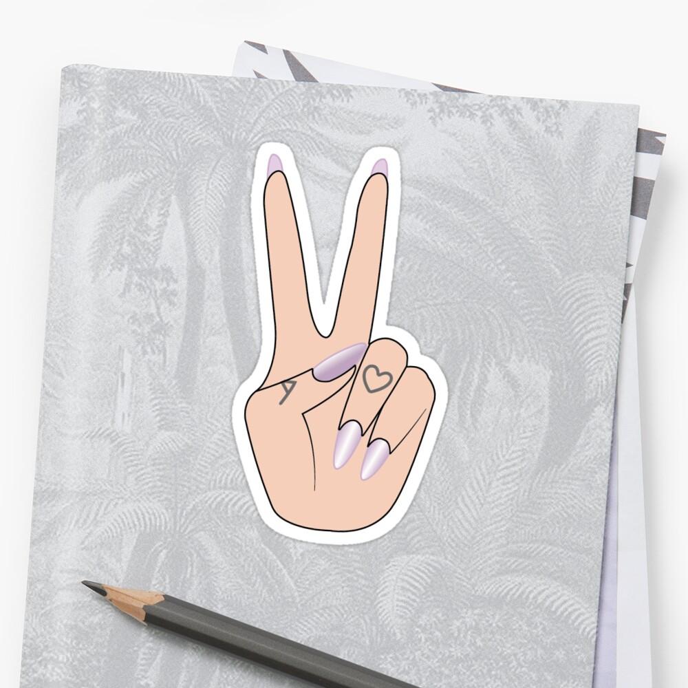 Arimoji Friedenszeichen Sticker