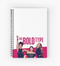 """The Bold Type """"Pink Bold"""" Design Spiral Notebook"""