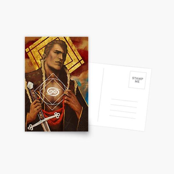 Carte de signe de cancer du zodiaque Alistair Theirin Carte postale