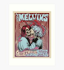 Kurt & Courtney Melvins Gig Poster Art Print