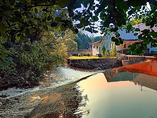 Nature, a river and colorful reflections   waterscape photography by Patrick Jobst