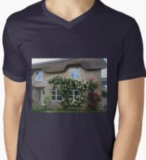 Roses On The Wall (Country Cottage) Men's V-Neck T-Shirt